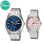 """นาฬิกาคู่ นาฬิกาคู่รัก นาฬิกาคู่รัก ราคาถูก นาฬิกาเซตคู่ นาฬิกาข้อมือคู่ นาฬิกาข้อมือคู่รัก นาฬิกาคู๋รัก Casio Classic """"Blue-Pink"""""""