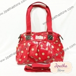 กระเป๋า Chalita wu + สายสะพาย สีแดง ลายจุด