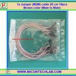 1x Jumper (M2M) cable 20 cm 10pcs Brown color (Male to Male)