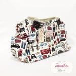กระเป๋าถือ สะพายไหล่ Chalita wu สีขาว ลายลอนดอน
