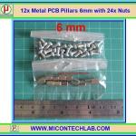 12x เสารองแบบเหลี่ยม 6 มม. 24x สกรู M3 (Pillars 6 mm)