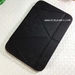 เคสหนัง Samsung note 8 Smart cover (Onjess) สีดำ ปกหลังสีดำใส