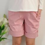 กางเกงคลุมท้องขาสั้น สีชมพู