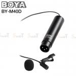 Microphone BOYA BY-M40D Omni-directional Lavalier for XLR