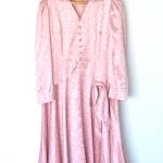 """Vintage Pink Pastel Dress (Bust 35"""")*"""