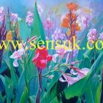 ภาพวาดดอกพุทธรักษา(ขายไปแล้วรับสั่งใหม่)