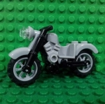 Light Bluish Gray Motorcycle Vintage