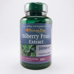 Puritan's Pride, Bilberry Fruit Extract 1000 mg, 180 Softgels