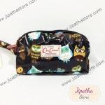 กระเป๋าคล้องมือ Chalita wu สีดำ ลายนกฮูก