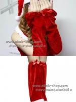 ถุงมือคริสมาสต์+ถุงใส่ขาคริสมาสต์ ขายยกเซ็ท