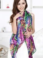ผ้าพันคอชีฟอง หลากสีโทนม่วง