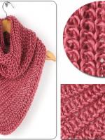 ผ้าพันคอไหมพรมสีชมพู ( รหัส P188 )