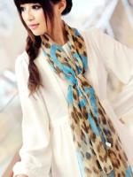 ผ้าพันคอผ้าPolyester+ผ้าไหม วาไรตี้เสือดาว ( รหัส P116 )