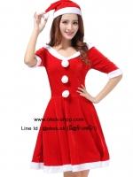 ชุดซานตี้ผู้หญิงสีแดงสุดน่ารักต้องรับเทศกาลปีใหม่