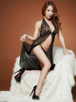 Pre Order / ชุดเดรสชีฟองใสชุดชั้นในเซ็กซี่ชุดนอนเซ็กซี่