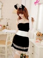 ชุดแม่กระต่ายสีดำสุดเย้ายวน