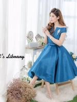 พร้อมส่ง-ไซส์ L เป็น Dress Brand Poem ผ้าไหมทรงเปิดไหล่รุ่นนี้เป็นผ้านำเข้าสั่งทำพิเศษ เนื้อผ้าด้านในเย็บซับอย่างดี