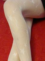ถุงน่อง ลายดาวสีขาว (รหัส S34)
