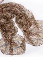 ผ้าพันคอผ้าPolyester+ผ้าไหม แฟนตาซีเสือดาว ( รหัส P85 )