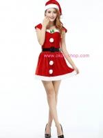 ชุดคริสมาสต์ผู้หญิงสุดน่ารัก >>สินค้ามีตำหนิตกสีจางๆเล็กน้อยลด 25%<<