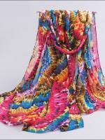 ผ้าพันคอชีฟอง หลากสีโทนชมพู