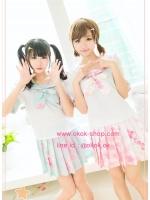ชุดนักเรียนญี่ปุ่นฟรุ้งฟริ้งน่ารักสีชมพูและสีเขียวฟ้า