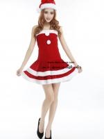ชุดวันคริสมาสต์แฟนซีซานตี้ผู้หญิงสีแดงสุดน่ารัก
