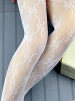 ถุงน่อง ลายโบว์สีขาว (รหัส S8)