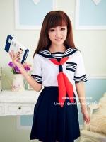 ชุดนักเรียนคอสเพลย์มัธยมญี่ปุ่นสาวสุดน่ารัก (มีไซต์ให้เลือกและมีไซต์ใหญ่)