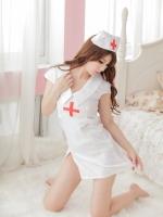 ชุดพยาบาลสีขาวคอสเพลย์