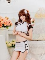 ชุดจีนแฟนซีกี่เพ้าสุดน่ารักสีขาว