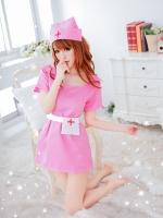 ชุดพยาบาลสาวสีชมพูหวานแหว๋วเซ็กซี่