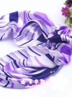 ผ้าพันคอผ้าซาติน Purple Tone