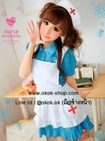 ชุดคอสเพลย์การ์ตูนญี่ปุ่นนางพยาบาลสาวแสนน่ารัก
