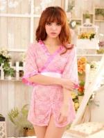 Pre Order / ชุดกิโมโน ชุดแฟนซี ผ้าซีทรู สีชมพูหวาน ๆ