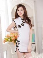 ชุดจีนกีเพ้าแฟนซีสุดน่ารักสีขาว