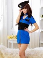Pre Order / ชุดตำรวจสาวน้อยน่ารัก สีน้ำเงิน