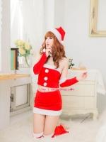 ชุดแฟนซีซานตาคลอสสาวสวยแอบเซ็กซี่