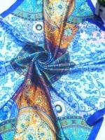ผ้าพันคอผ้าซาติน Chinese Style