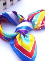 ผ้าพันคอผ้าซาติน Colorful
