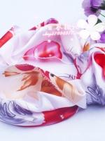 ผ้าพันคอผ้าซาติน Red Rose