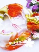 ผ้าพันคอผ้าซาติน Blossom