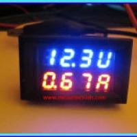 DC Dual Volt Ammeter(ดีซีโวลต์แอมป์มิเตอร์ในโมดูลเดียวกัน)
