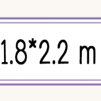 ขนาด 1.8*2.2 m