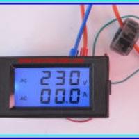 AC Volt Amp meter (เอซี โวลท์ แอมป์มิเตอร์)
