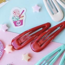 แดง-กิ๊บคู่ กิ๊บเนื้อ Jelly Candy Color HR9005-R