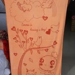 ขายส่ง ผ้าเช็ดตัวนาโน จัมโบ้ พิมพ์ลาย (แบบบาง) 80*150 cm ส่ง 47 บาท