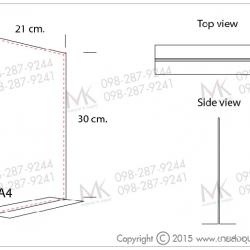 อะคริลิคตั้งโต๊ะ T-shape A4
