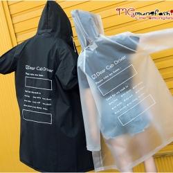 เสื้อกันฝนสีดำ 2018 ไซส์ L