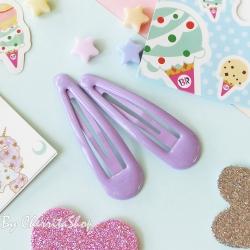 ม่วง-กิ๊บคู่ กิ๊บเนื้อ Jelly Candy Color HR9005-VI
